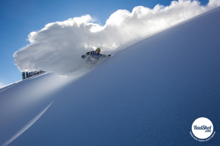 Snowboard-Photo-Travis-Rice-Powder-Turn-Jackson-Hole-by-Scott-Serfas