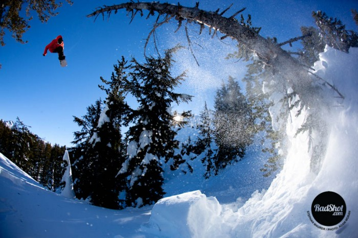 Snowboard-Photo-Stephan-Maurer-Tree-Jump-Tahoe-by-Adam-Moran
