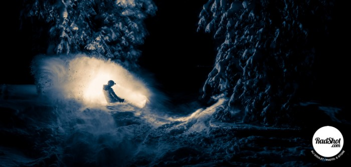 Snowboard-Photo-Ali-Goulet-Night-Powder-Utah-by-Ethan-Fortier