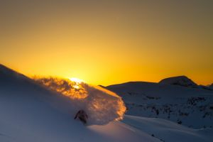 Whistler Sunset / by Vernon Deck - Rider: Austin Smith